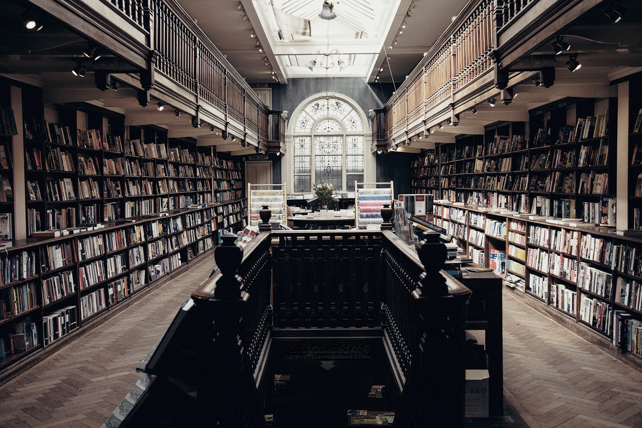 An empty library.